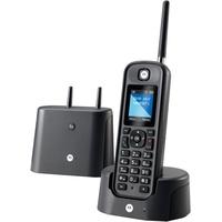 Motorola O201 DECT-Telefon Anrufer-Identifikation Schwarz