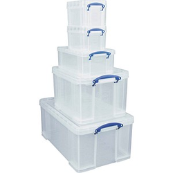 Really Useful Box Aufbewahrungsboxen-Set transparent