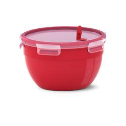 EMSA CLIP & MICRO Mikrowellendose, rund, Hochwertiges Mikrowellengefäß für allerlei Speisen, Fassungsvermögen: 2,6 Liter