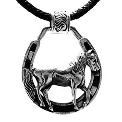 Kiss of Leather Kettenanhänger Pferdeanhänger Pferd Pferdanhänger Pferde Horse Anhänger 925 Silber Nr. 413