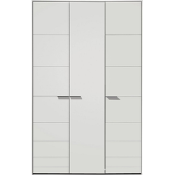 Loddenkemper Drehtürenschrank Malibu 3 türig weiß 152 cm x 238,9 cm x 59,5 cm