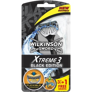 Wilkinson Sword Xtreme 3 Black Edition Einwegrasierer, 3 Stück + 1 gratis