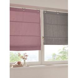 Raffrollo, mit Ösen rosa 120 cm x 130 cm
