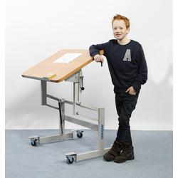 MÖCKEL® ergo S 72 ergonomischer Tisch, Hellbraun, 120 x 80 cm