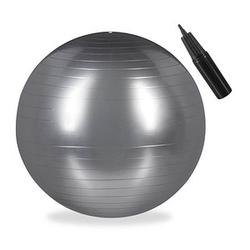 relaxdays   Gymnastikball silber 65,0 cm