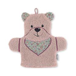 Sterntaler® Waschlappen Spiel-Waschhandschuh Hanno, grau rosa