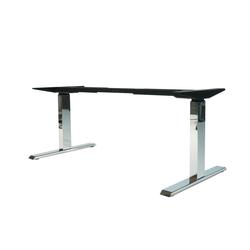 bümö Schreibtisch OM-670SL, Schreibtischgestell DIY elektrisch höhenverstellbar - Farbe: Chrom grau