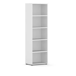 Bücherregal integro niedrig, weiß