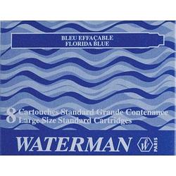 WATERMAN S0713021 Tintenpatronen für Füller blau 8 St.