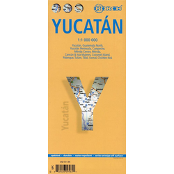Yucatan 1 : 1 000 000. Road Map + City Maps