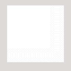 Duni Serviette, weiß, 40x40 cm, 3-lagig, 1/4 Falz 4x250 Servietten