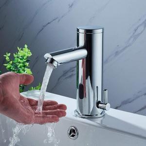 Badarmatur mit Infrarot Sensor YUNRUX Automatisch kalt heiß Waschbecken Wasserhahn Einhebel Mischbatterie Waschtisch Armatur Waschtischarmatur Einhandmischer Bad Faucet Wannen Armatur Badewanne