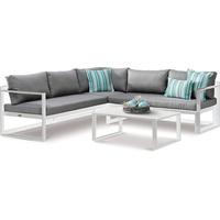 BEST Freizeitmöbel Rhodos Loungegruppe weiß/grau