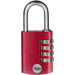YALE YE3CB/38/131/1/CO Vorhängeschloss 38mm Rot Zahlenschloss