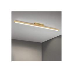 ZMH Deckenleuchte Holz 113cm Lang Bürolampe LED Wohnzimmerlampe 4000K Neutralweiß, 1 Flammig Innen Deckenlampe, 28 Watt, 2240 Lumen