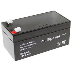 Blei-Akku Multipower MP3.4-12, 12 Volt, 3,4 Ah