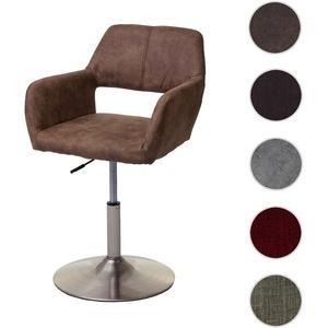 Esszimmerstuhl HWC-A50 III, Stuhl Küchenstuhl, Retro 50er Jahre, Stoff/Textil ~ vintage braun, Fuß g