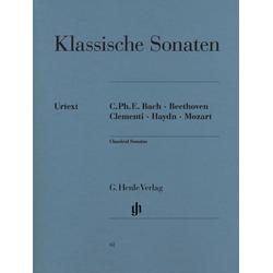 Klassische Klaviersonaten als Buch von