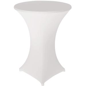 ele ELEOPTION Stehtischhusse 2er Pack Stretchhussen,Tischhusse Stehtische Hussen Dekoration für Cocktail Party Hochzeit Bankett (80 X 110 cm, Weiß)