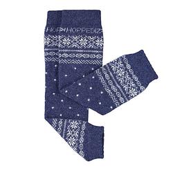 Beinstulpen Merino-Babystulpen blau/weiß Gr. one size