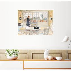 Posterlounge Wandbild, Blumen auf der Fensterbank 130 cm x 100 cm