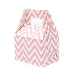 12 Geschenkschachteln Geschenkverpackung Geschenk Box Geburtstag Gastgeschenk Zick Zack - rosa