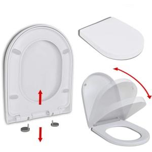 vidaXL WC Sitz Absenkautomatik Clip-System Klobrille Klodeckel Toilettensitz