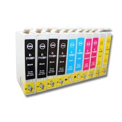 vhbw 10x Tintenpatrone passend für Epson Stylus Office BX300 / BX300F / BX310 u.a.