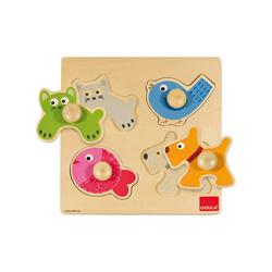 Goula Steckpuzzle GOULA Holzpuzzle Haustiere, Puzzleteile