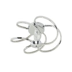 KHG LED-Deckenleuchte, 5-flammig, chrom/ Kristallglas ¦ silber Ø: 48