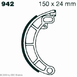 Hi-Q Bremsbacken V942, 150x24mm