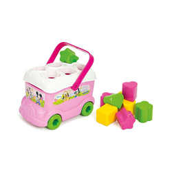 Clementoni® Steckspielzeug Minnie Mouse - Steckspiel Bus