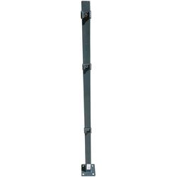 Peddy Shield Zaunpfosten, 110 cm Höhe, für Ein- und Doppelstabmatten grau
