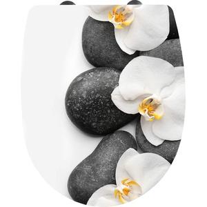 """Cornat WC-Sitz """"Orchidee"""" - Ansprechendes Design - Pflegeleichter Thermoplast - Quick up & Clean Funktion - Absenkautomatik - Bequeme Montage von oben / Toilettensitz / Klodeckel / KSDSC100"""
