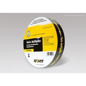 ISOVER Vario AntiSpike Nageldichtband - 65 mm breit - 20 m Rolle | für außen | UV-beständig | Lag. 1702164