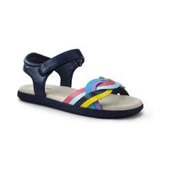 Sandalen, Kids, Größe: 27 Mädchen, Sonstige, Wolle, by Lands' End, Regenbogen - 27 - Regenbogen