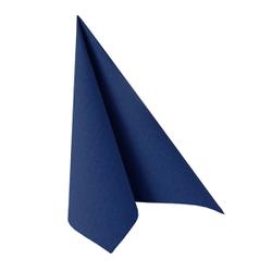 """Papstar """"ROYAL Collection"""" Servietten, 1/4-Falz, 33 cm x 33 cm, Hochwertige Premium-Servietten in Stoffoptik, 1 Karton = 5 Packungen á 50 Stück, dunkelblau"""