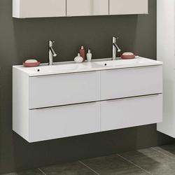 Waschtischunterschrank in Weiß Zwei