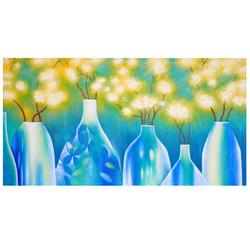 Ölgemälde Vasen, 100% handgemaltes Wandbild Gemälde XL, 135x70cm