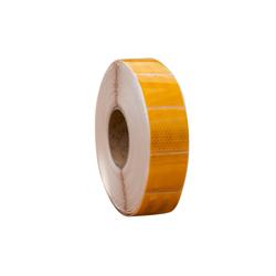 Gelbes Konturband - reflektierendes Klebeband - segmentiert - 1 m