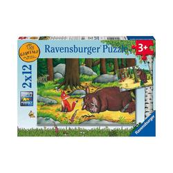 Ravensburger Puzzle Puzzle 2 x 12 Teile Grüffelo und die Tiere des, Puzzleteile