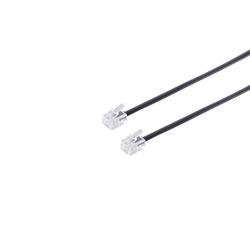 kabelbude kabelbude Modular ISDN Telefonkabel 6P/4C, 6P/6C oder 8P4C Elektro-Kabel, (300 cm) 300 cm