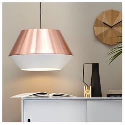 s.LUCE Pendelleuchte LED SkaDa Ø 50cm in Kupfer, Weiß