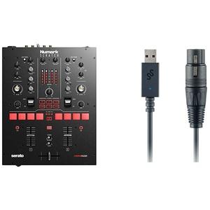 Numark Scratch + SoundSwitch DMX Micro Interface |Zweikanal DJ Scratch Mixer für Serato DJ Pro mit Effektwählern und Pads + USB auf DMX Interface mit 3 Monate kostenlos SoundSwitch Software