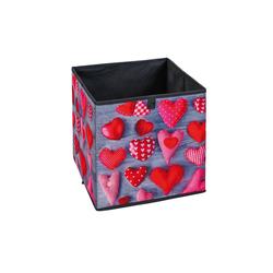 ebuy24 Aufbewahrungsbox Heax Aufbewahrungsbox schwarz, grau, rot, weiss.