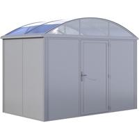 KGT Geräteraum Elbe, BxTxH: 312x220x255 cm, Erweiterung für Carport Elbe silberfarben