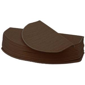 Stufenmatte Stufenmatte MCW-G49, MCW, halbrund, Höhe 0,5 mm, Kantenverstärkung durch Winkelschienen, Antirutsch-Effekt, Schutz vor Abnutzung, Trittschalldämpfung braun halbrund - 65 cm x 25 cm x 0,5 mm