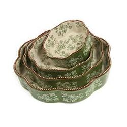 TEMP-TATIONS Keramikkuchenform nestbar Floral Lace 4tlg.