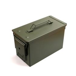 BigDean Kiste Munitionskiste Metall Caliber 50 mm M2A1 grün 30 cm x 19 cm
