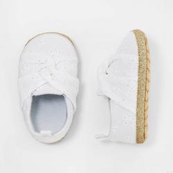 Baby Girls' Eyelet Shoes - Cat & Jack White 6-9M